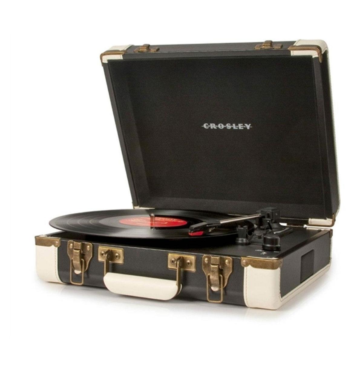 Crosley Executive Portable USB Turntable - Black/White