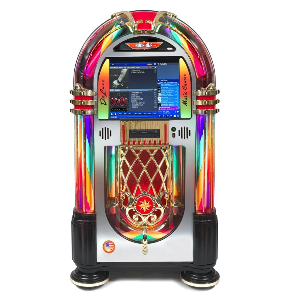Rock-Ola DeLuxe Digital Music Center Jukebox - Crystal Editie