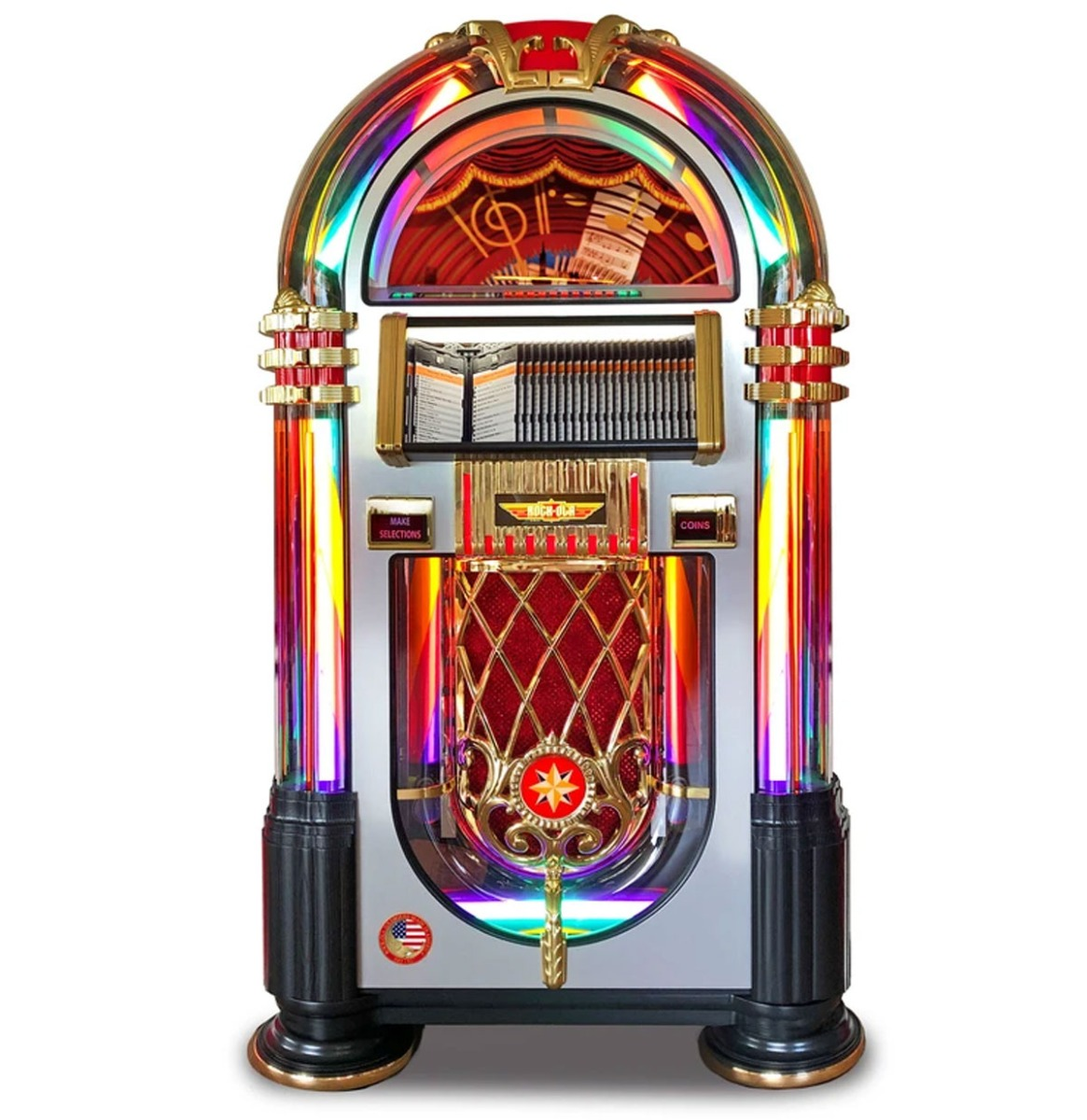 Rock-Ola CD Jukebox DeLuxe 'Crystal' Editie