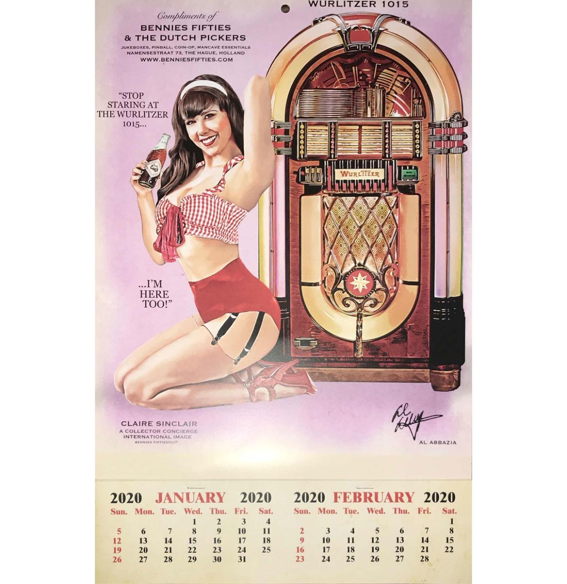 2020 Kalender Wurlitzer 1015 Jukebox Pin Up Bennies Fifties - PRE-ORDER