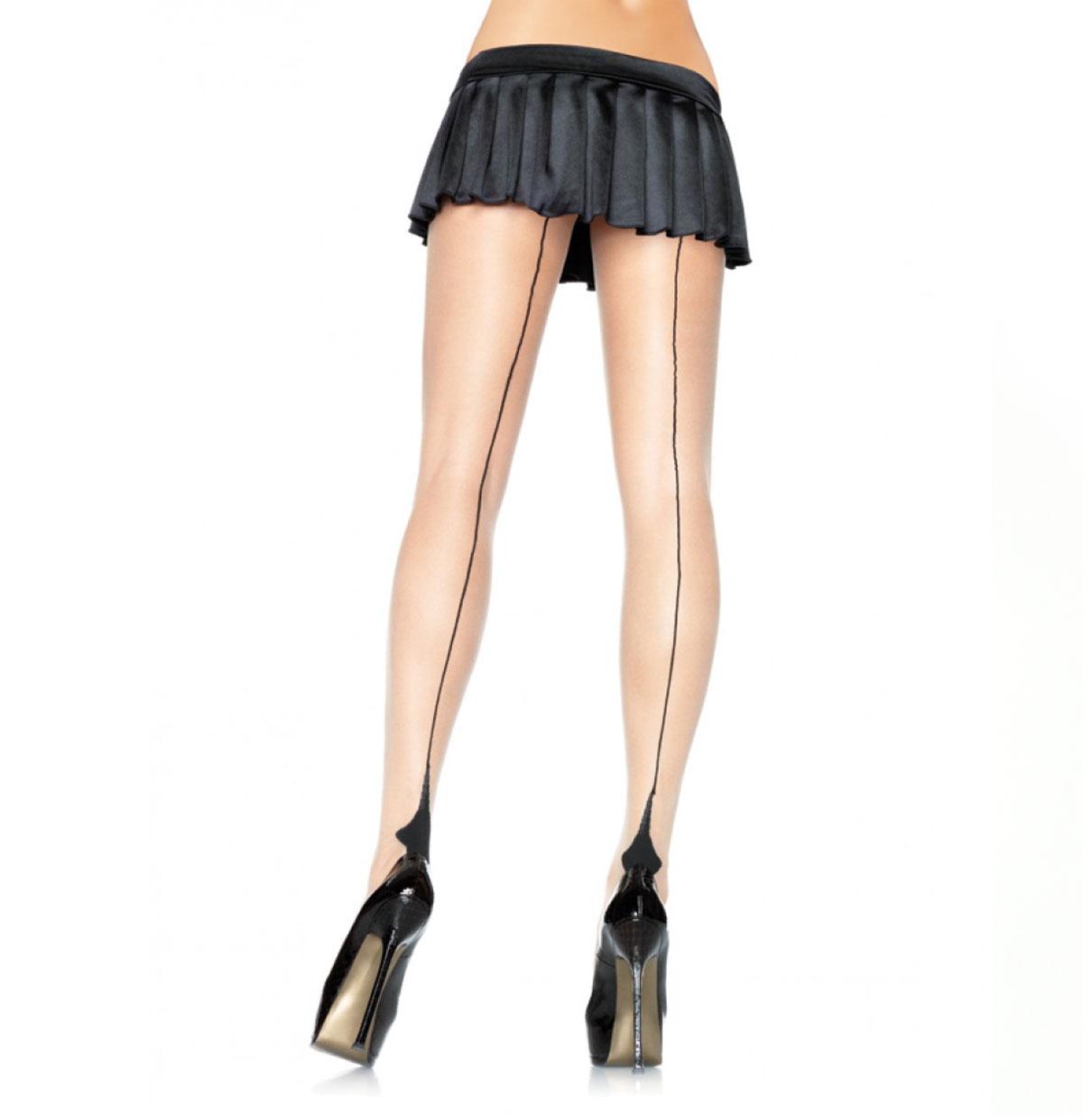 Cuban Heel Panty Nude/Black