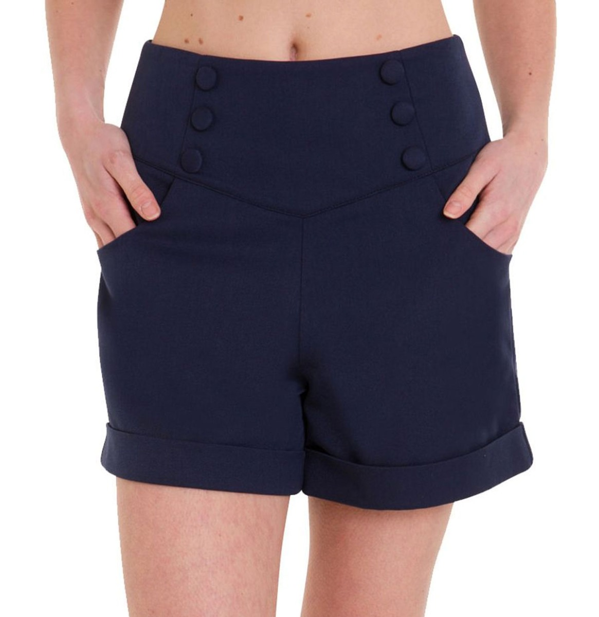 Banned Cute As A Button Shorts Navy Maat S