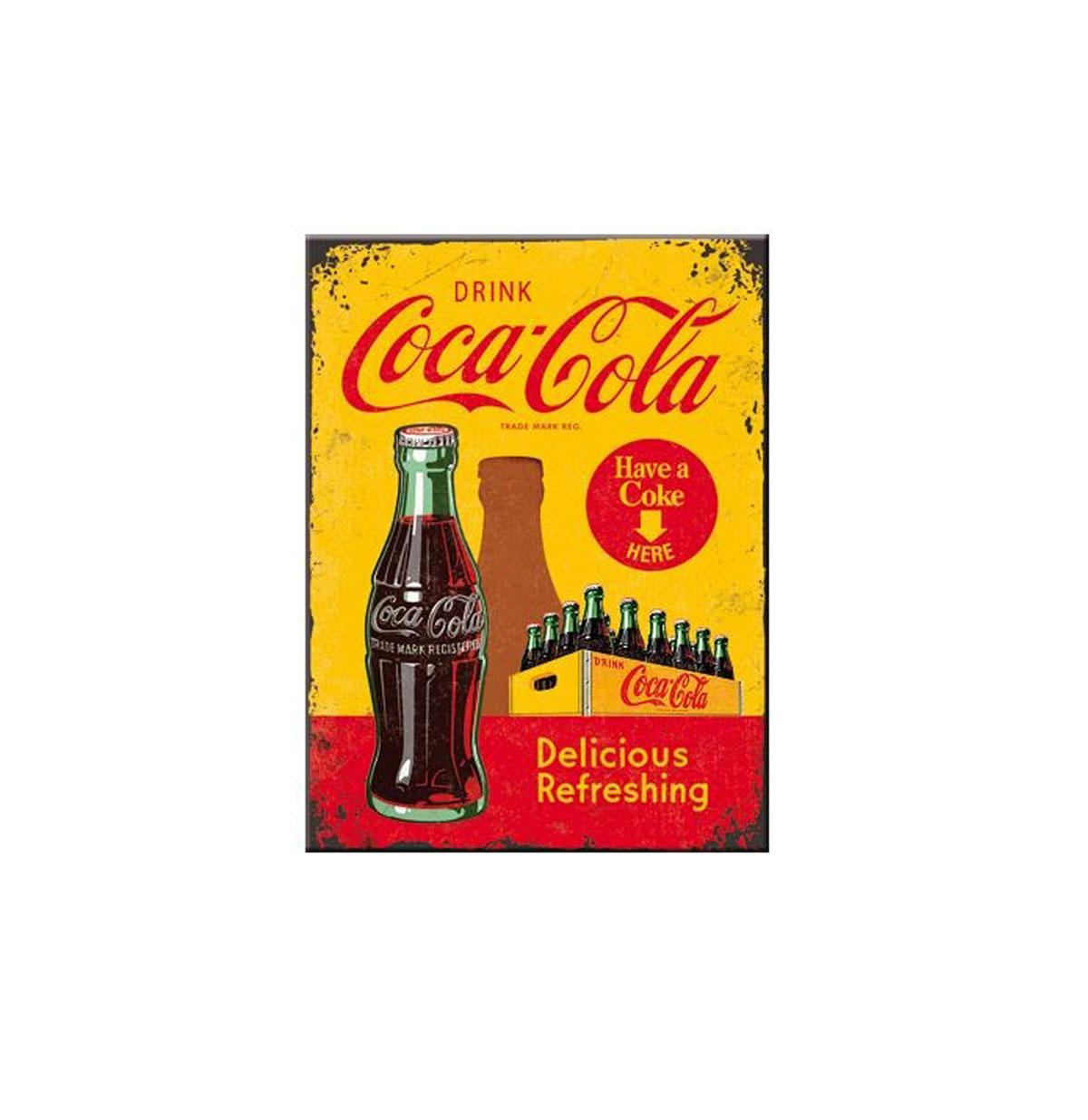 Magneet Coca-Cola In Bottles Yellow