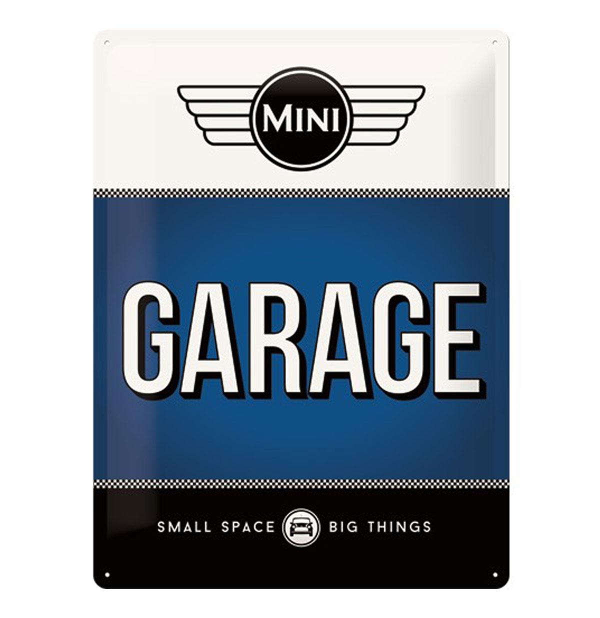 Metalen Plaat 'Mini Garage' 30 x 40 cm