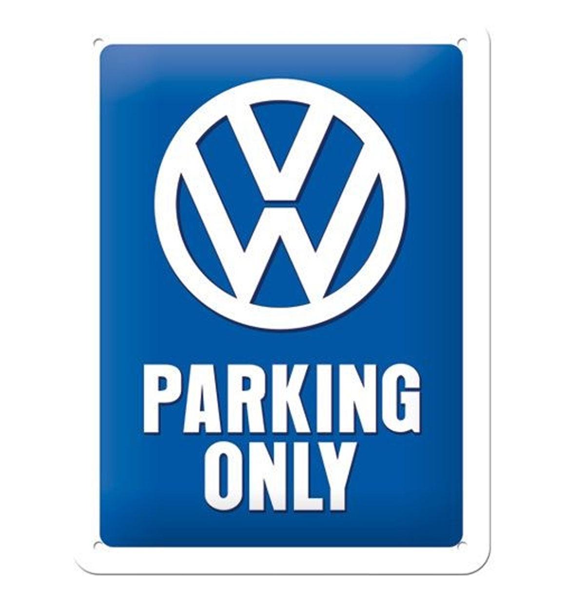 Metal Sign 'Volkswagen Parking Only' 15 x 20 cm