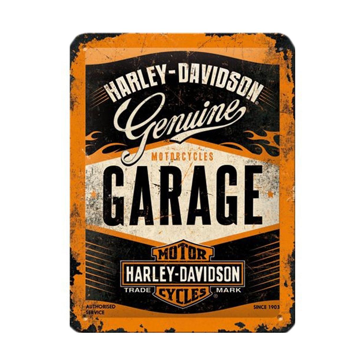 Harley-Davidson Garage Metal Sign 15 x 20 cm