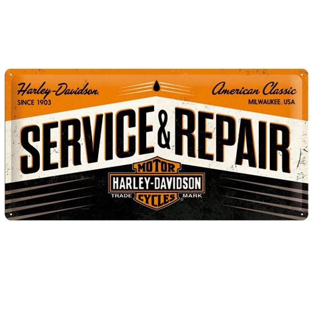 Harley-Davidson Service & Repair Metal Sign 25 x 50 cm