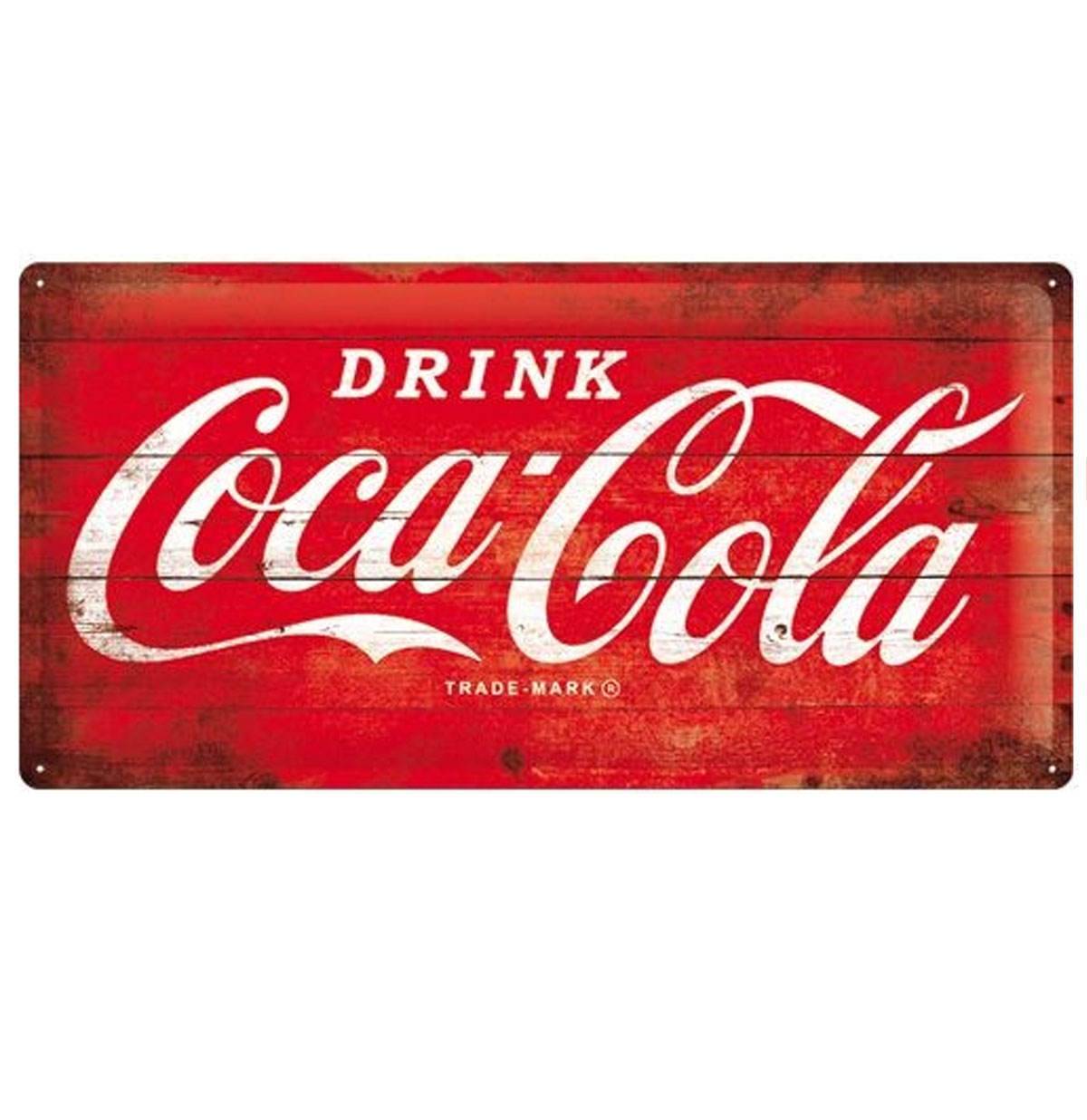 Drink Coca Cola Wood Look 25 x 50 cm