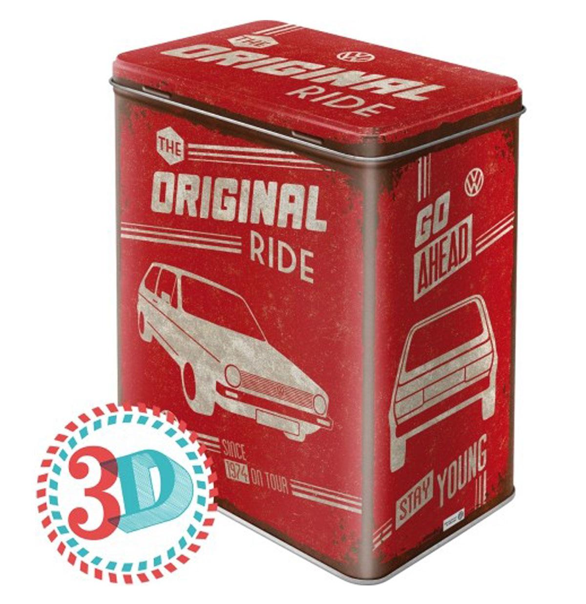 VW Volkswagen Golf The Original Ride Tin Box L