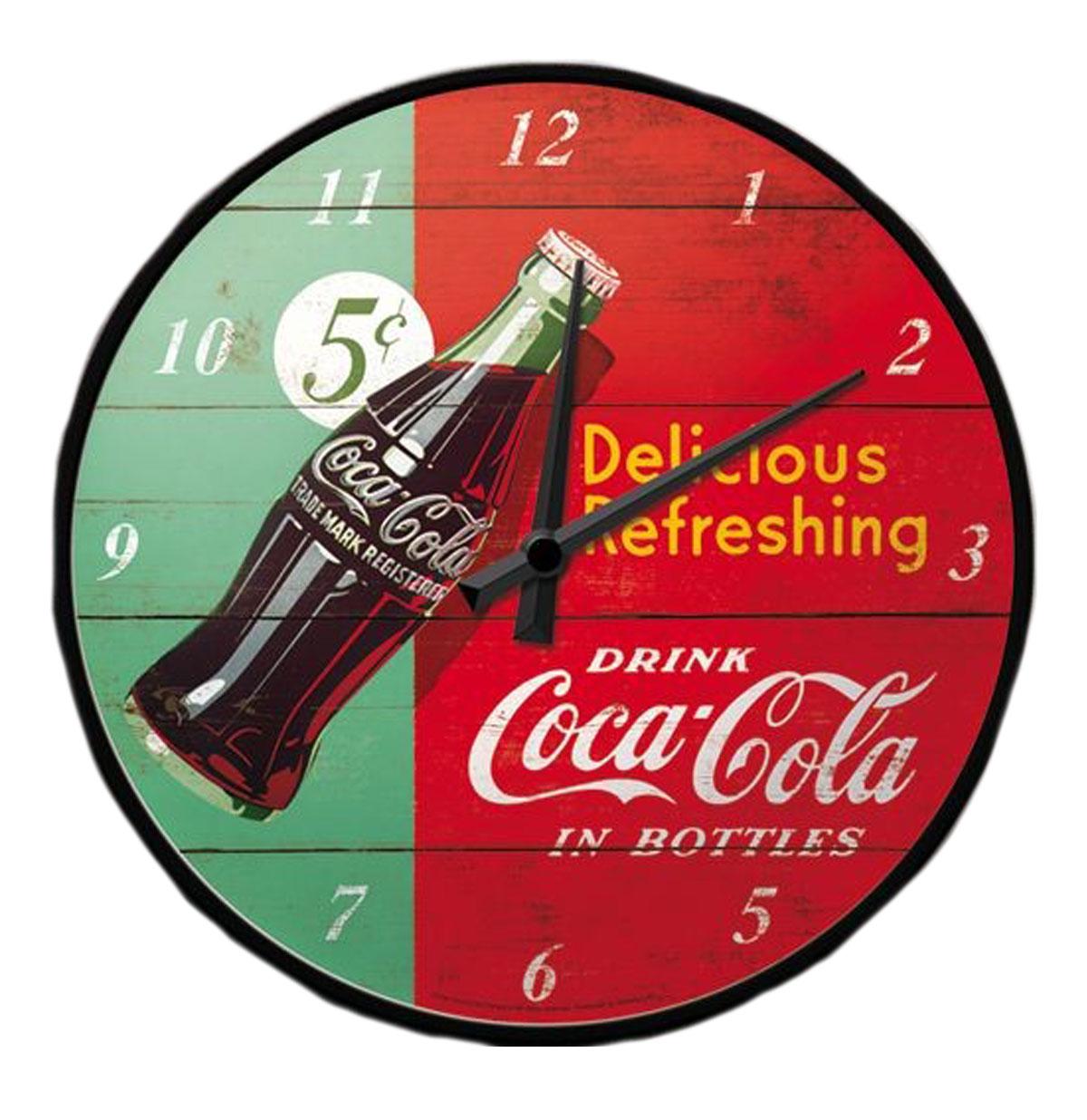 Wall Clock Coca-Cola Delicious Refreshing