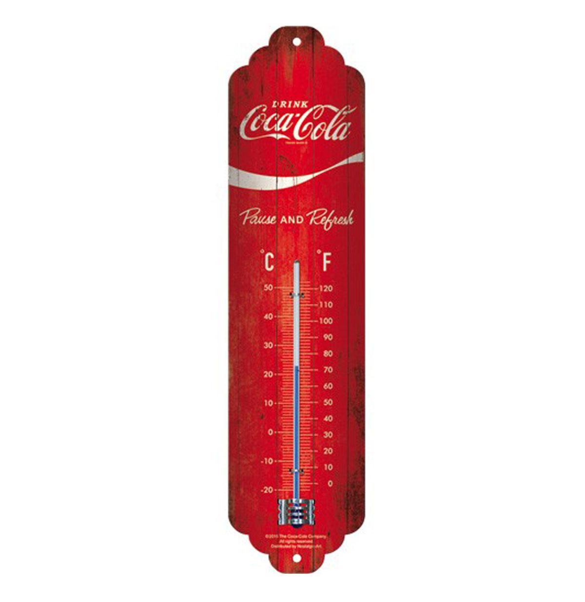 Coca-Cola Thermometer 'Wave Logo'