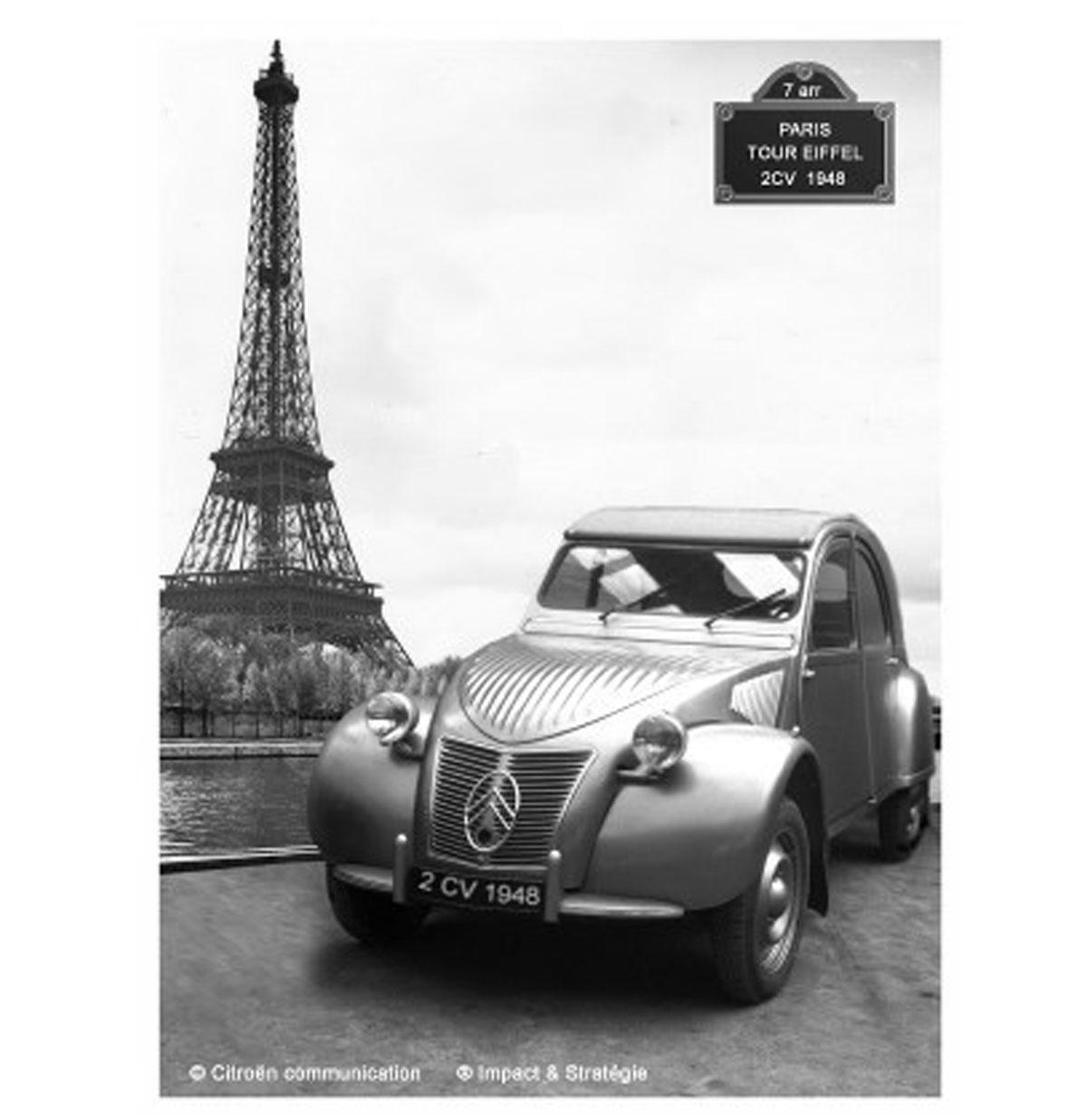 Citroën Paris Tour Eiffel Tinnen Bord