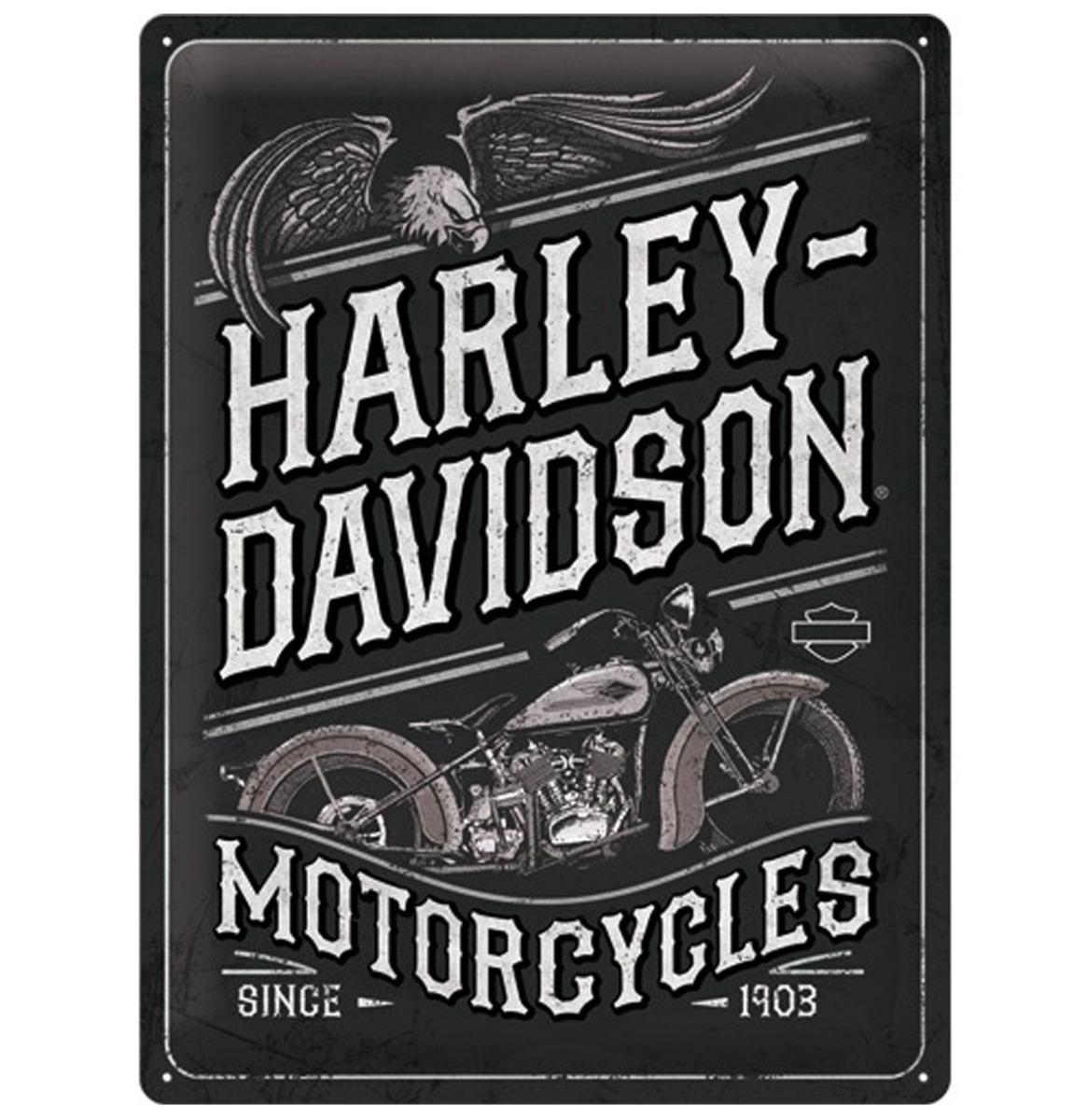 Harley-Davidson Motorcycles Adelaar Metalen Bord - 30 x 40 cm