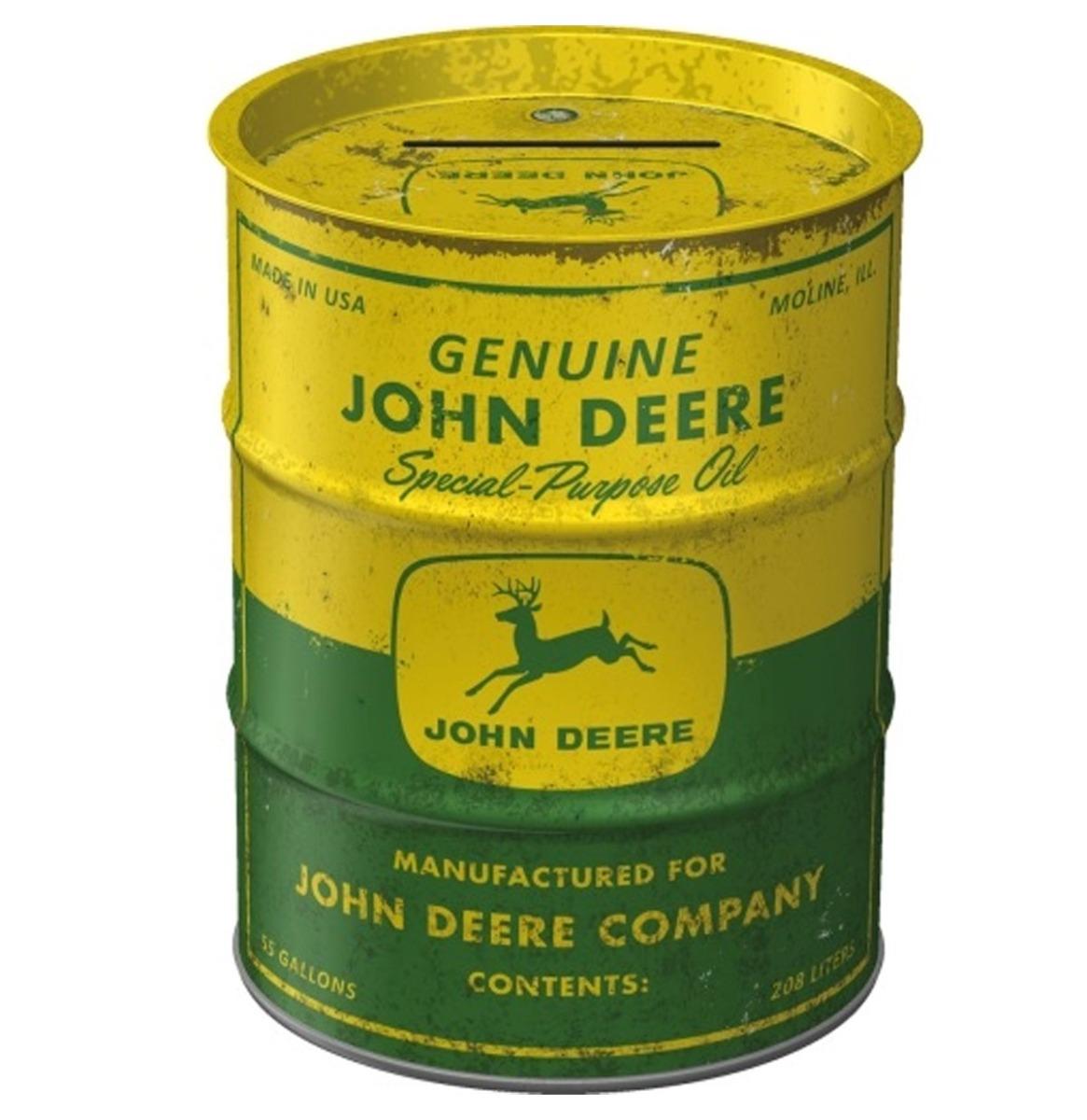 John Deere Olieblik Tinnen Spaarpot - Special Purpose Oil