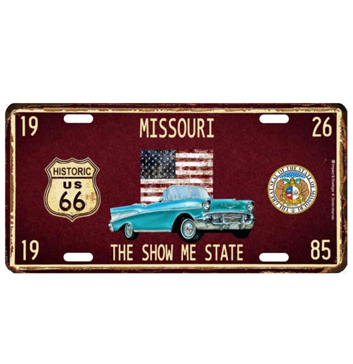 Missouri The Show Me State Metalen Kentekenplaat Met Reliëf