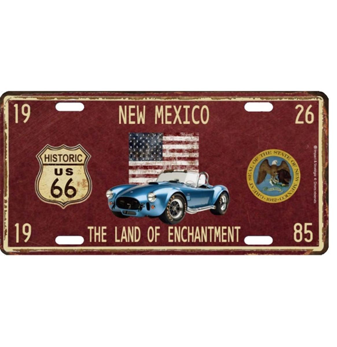 New Mexico Land Of Echantment Metalen Kentekenplaat Met Reliëf