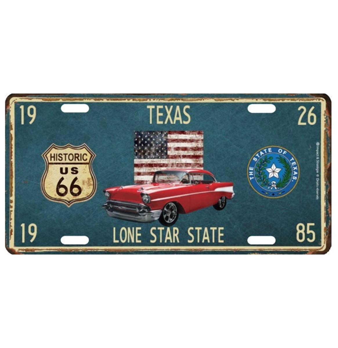 Texas Lone Star State Metalen Kentekenplaat Met Reliëf