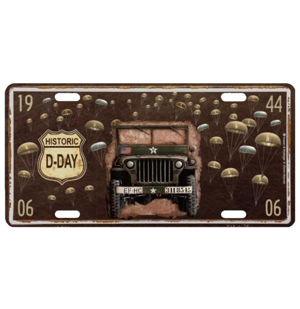D-Day Metalen Kentekenplaat Met Reliëf