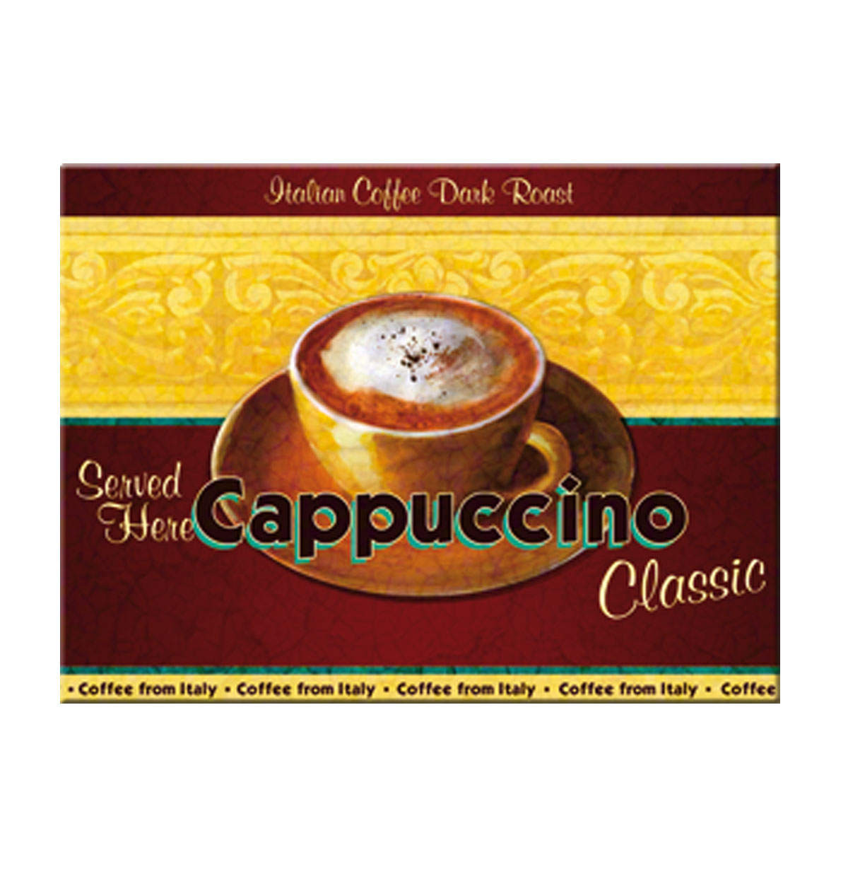 Cappuccino Classic Served Here Magneet
