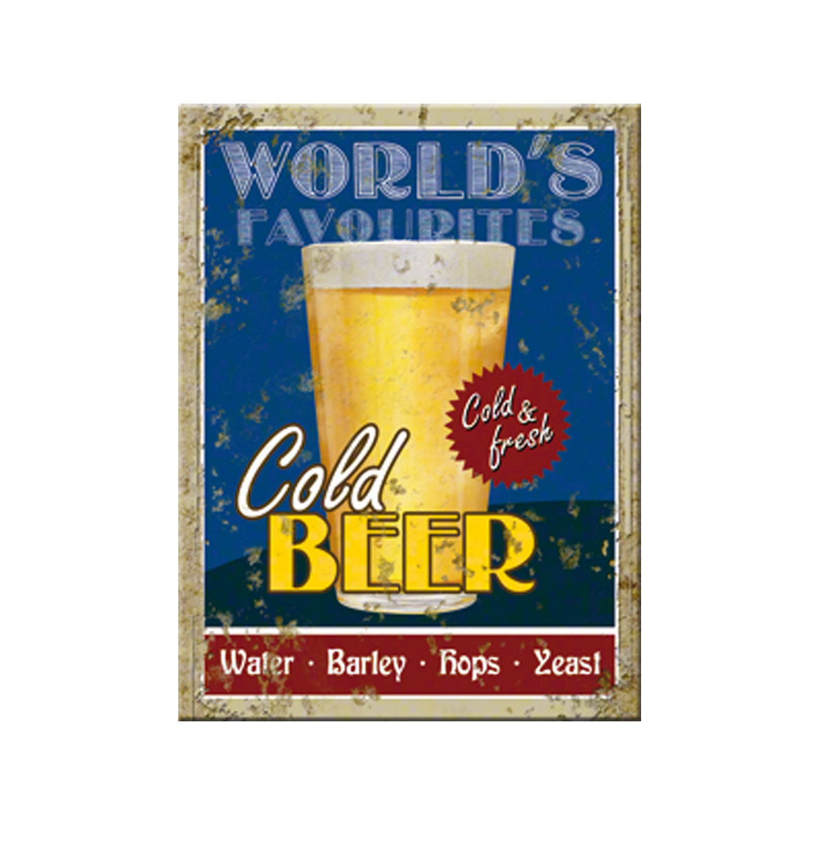 World's Favourites Cold Beer Magneet