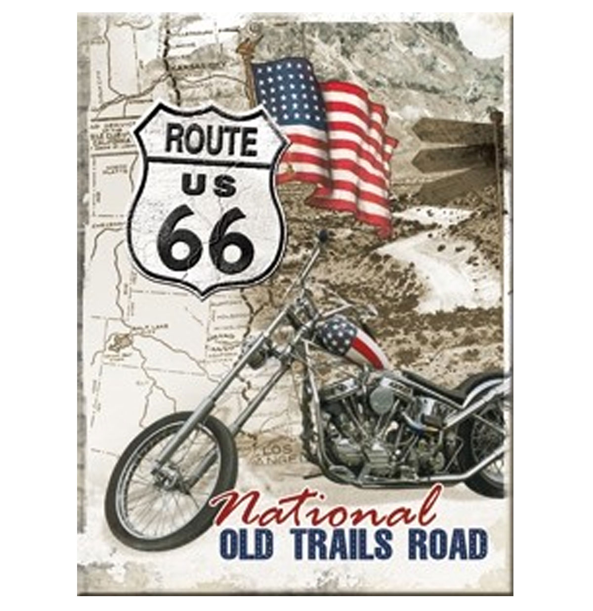 Route 66 National Old Trails Road Magneet