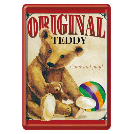 Original Teddy Metalen Postkaart