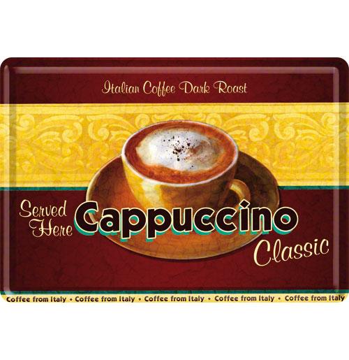 Cappuccino Classic Metalen Postkaart