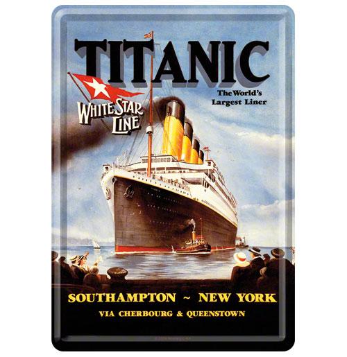 Titanic Southampton - New York Metalen Postkaart