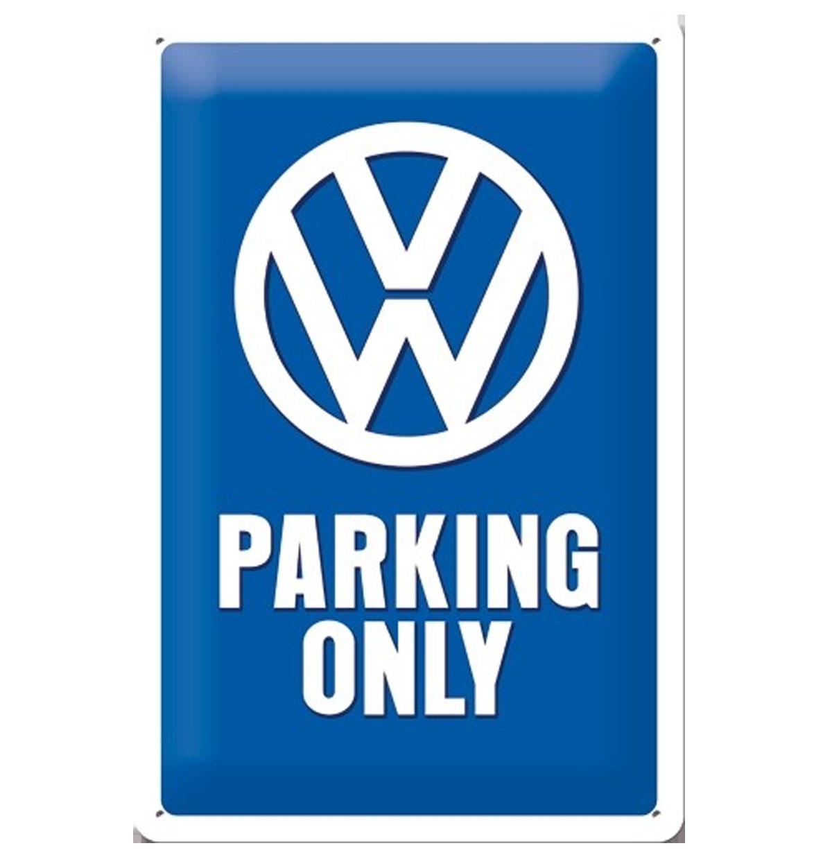 Volkswagen VW Parking Only Metalen Bord 20 x 30 cm