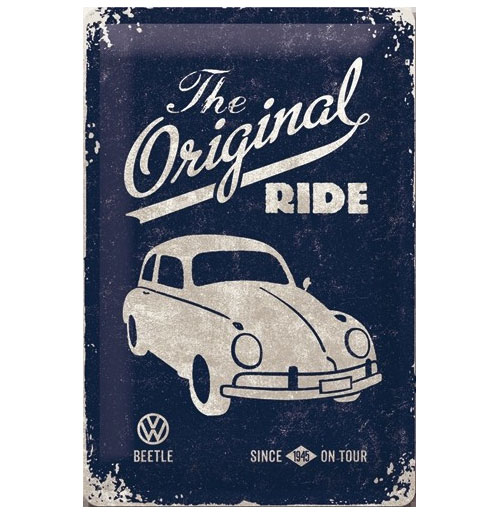 Metalen Plaat 'VW Volkswagen Beetle The Original Ride' 20 x 30 cm