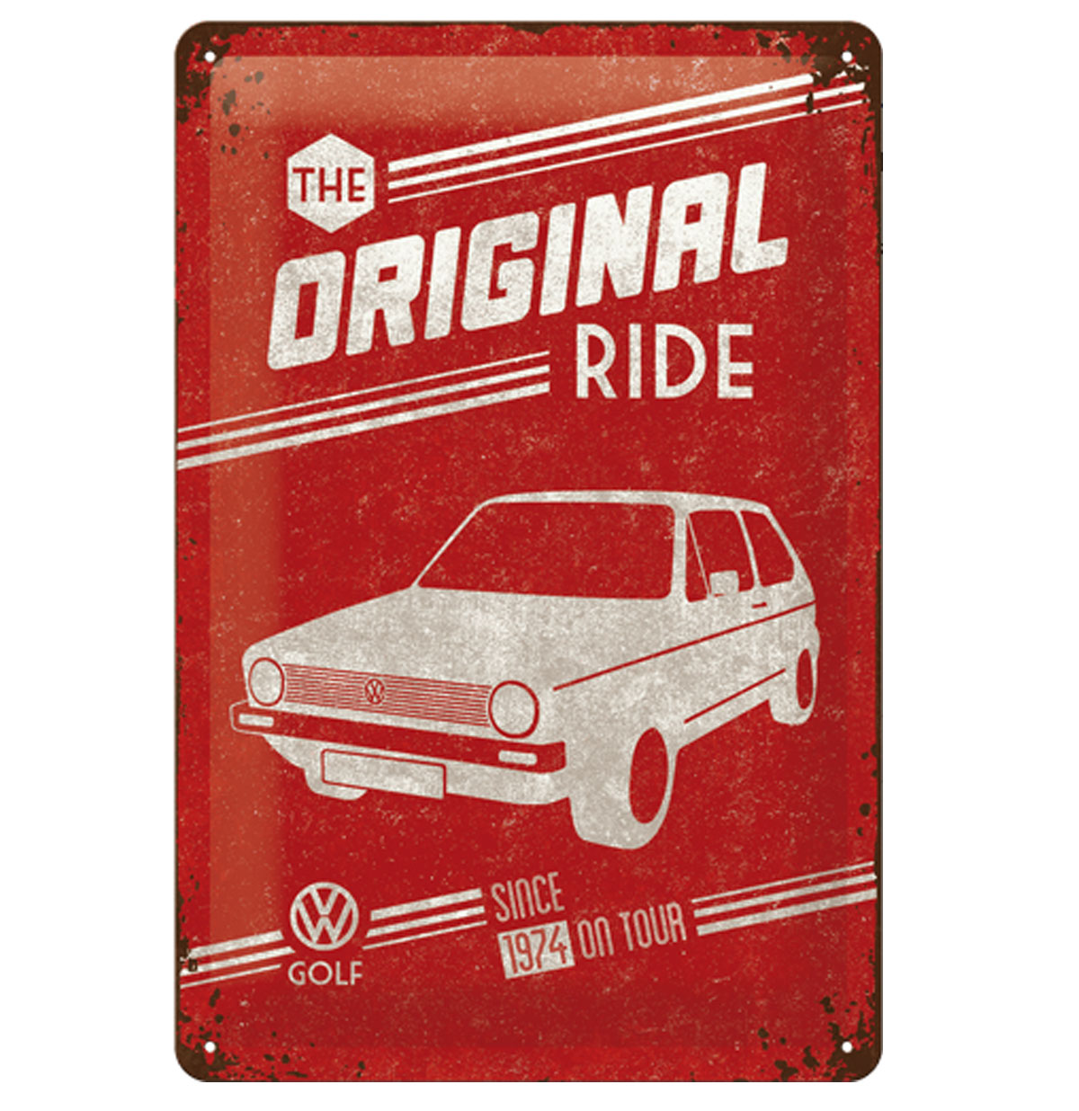 Tin Sign 'VW Golf The Original Ride' 20 x 30 cm