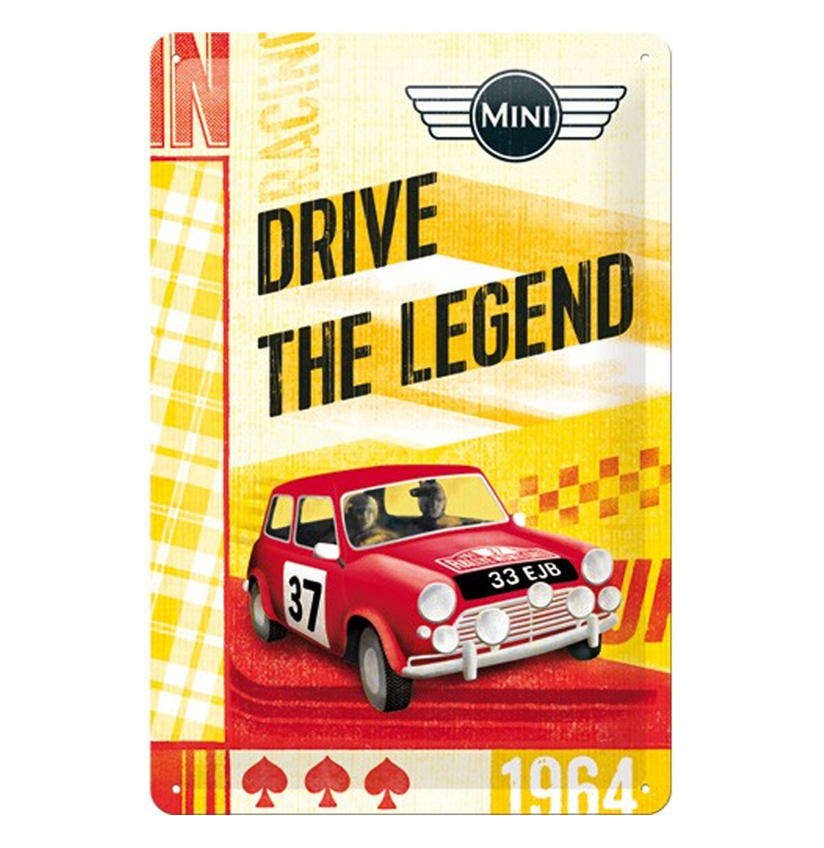Mini: Drive The Legend Tinnen Bordje
