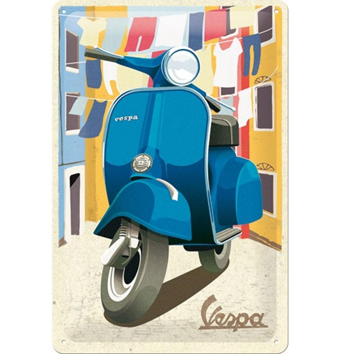 Vespa Italian Laundry Metalen Bord - 20 x 30 cm