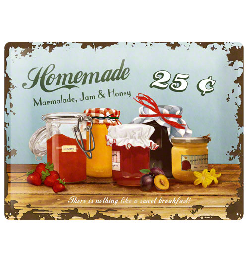 Tin Sign 'Homemade Marmelade' 30 x 40 cm
