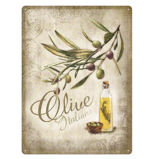 Metalen Plaat 'Olive Italiane' 30 x 40 cm
