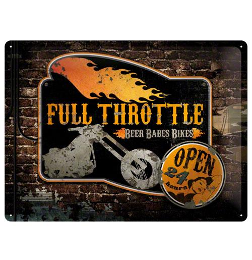 Metalen Plaat 'Full Throttle' 30 x 40 cm