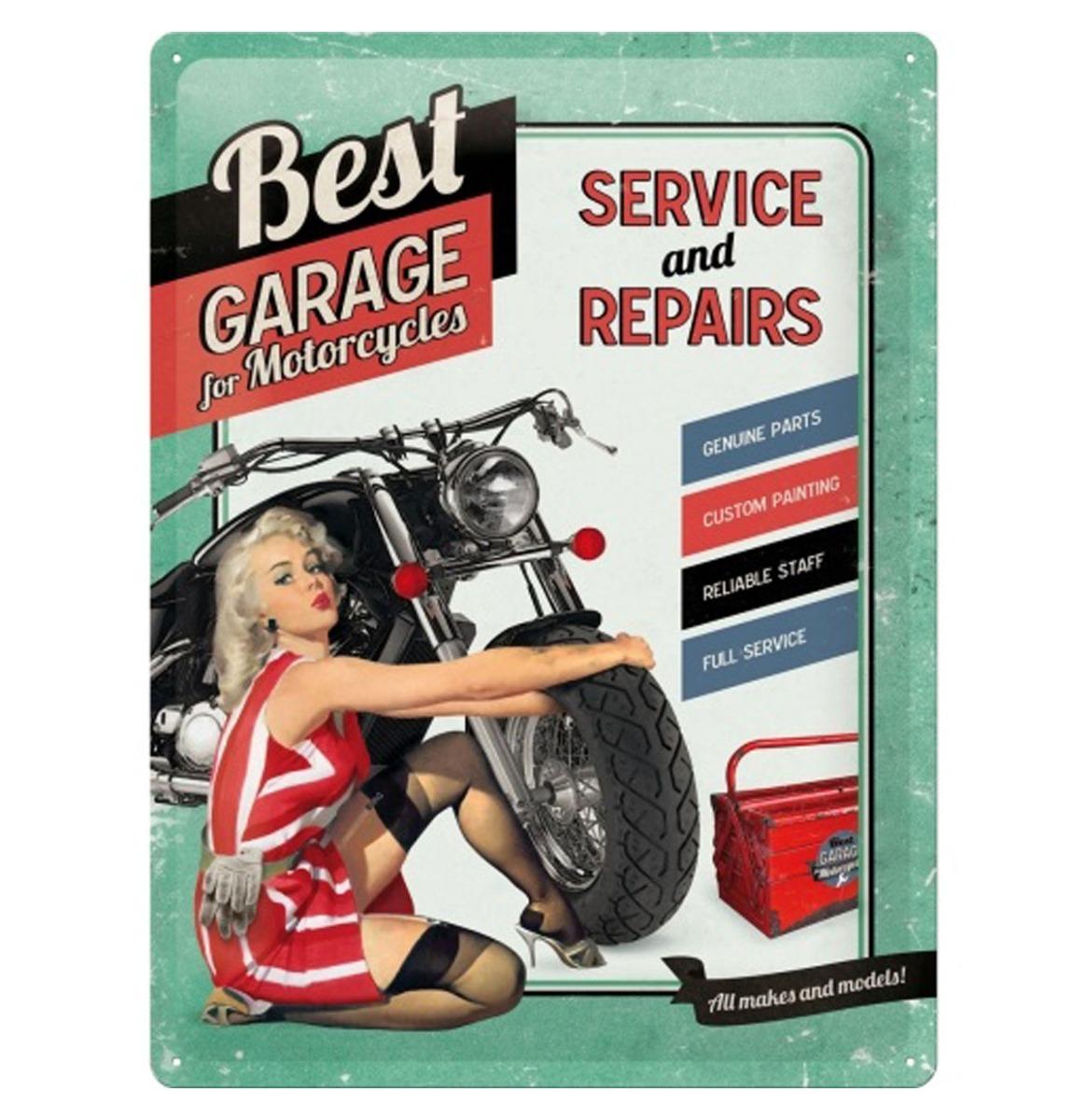 Metalen Bord 30x40 Best Garage Groen