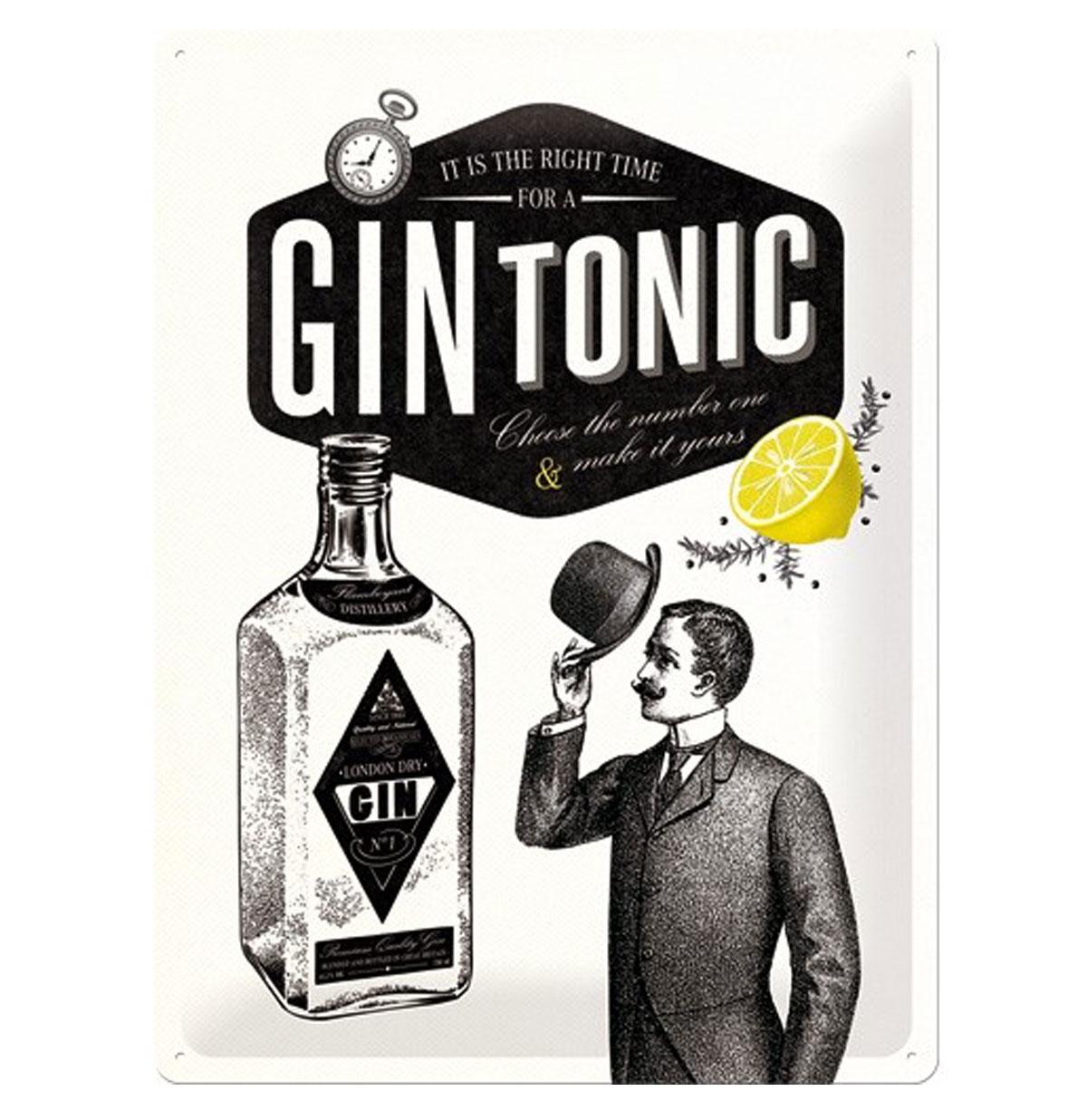 Gin Tonic Metalen Bord