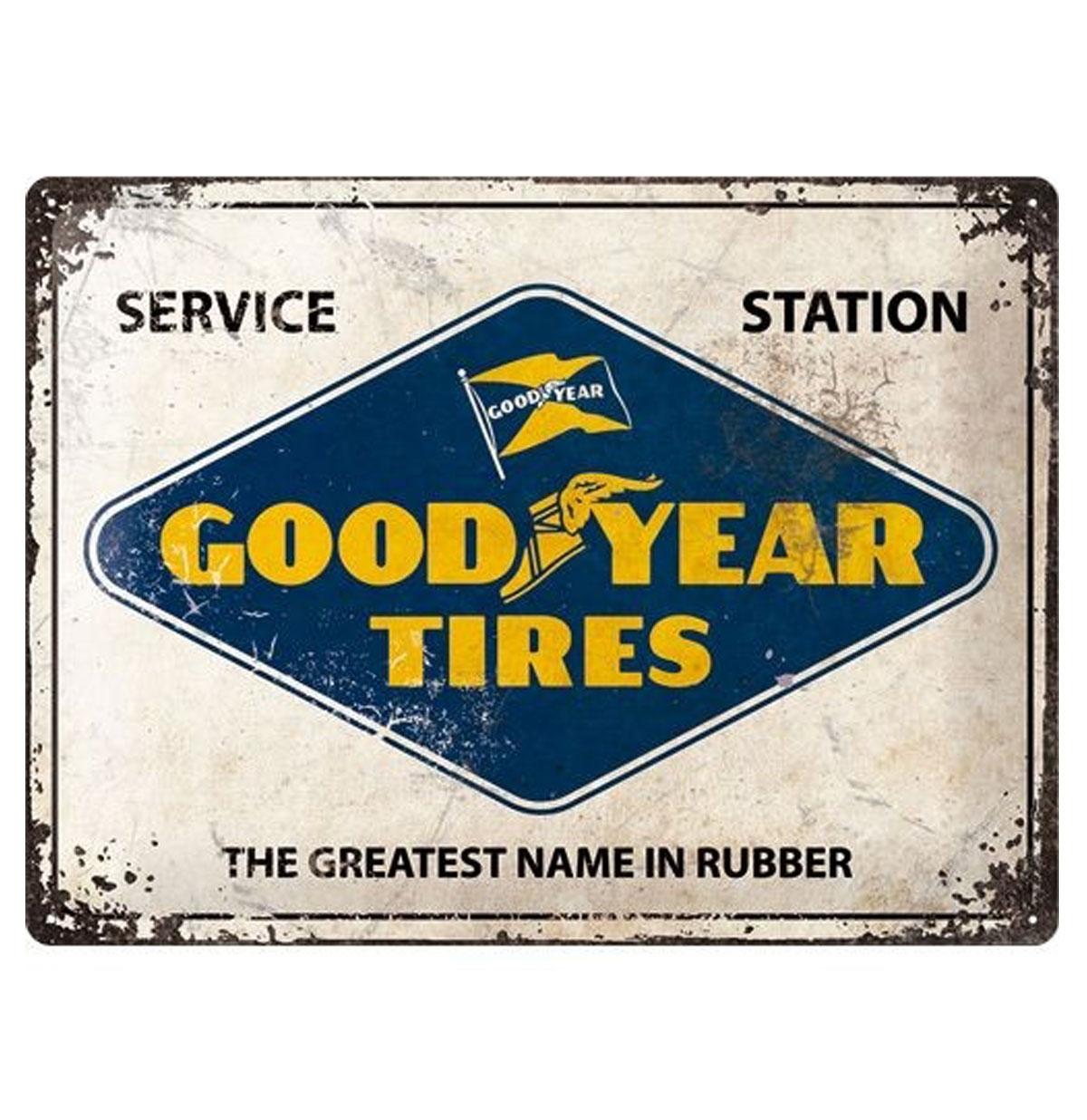 Tin Sign 'Good Year Tires' 30 x 40 cm