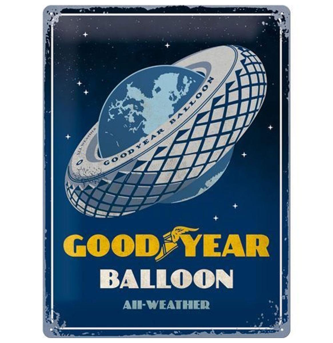 Metalen Bord 30 x 40 Goodyear Balloon