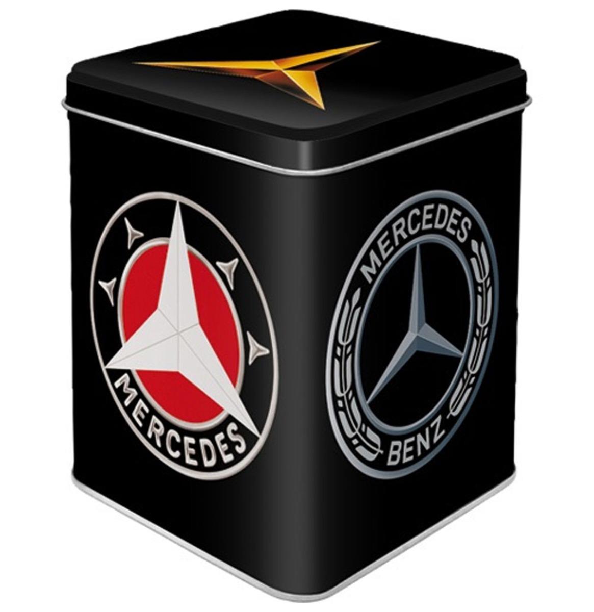 Mercedes-Benz Logo Metalen Theedoosje