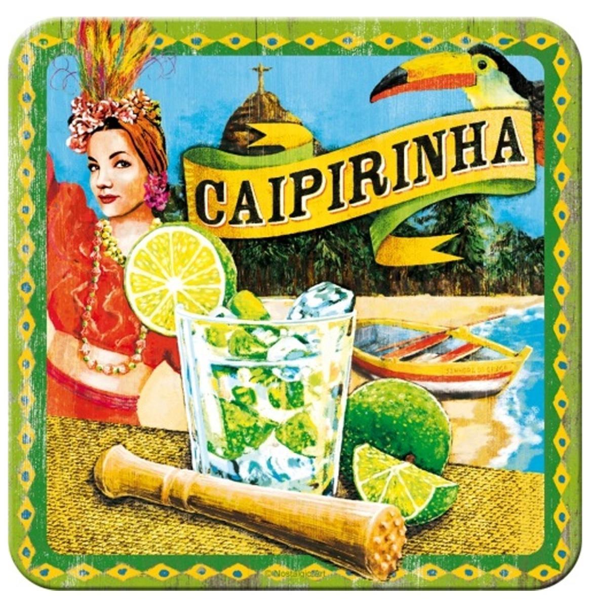 Caipirinha Metalen Onderzetters - Set Van 5
