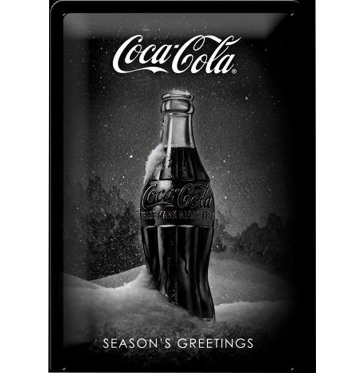 Coca-Cola Season's Greetings Metalen Bord - 20 x 30 cm