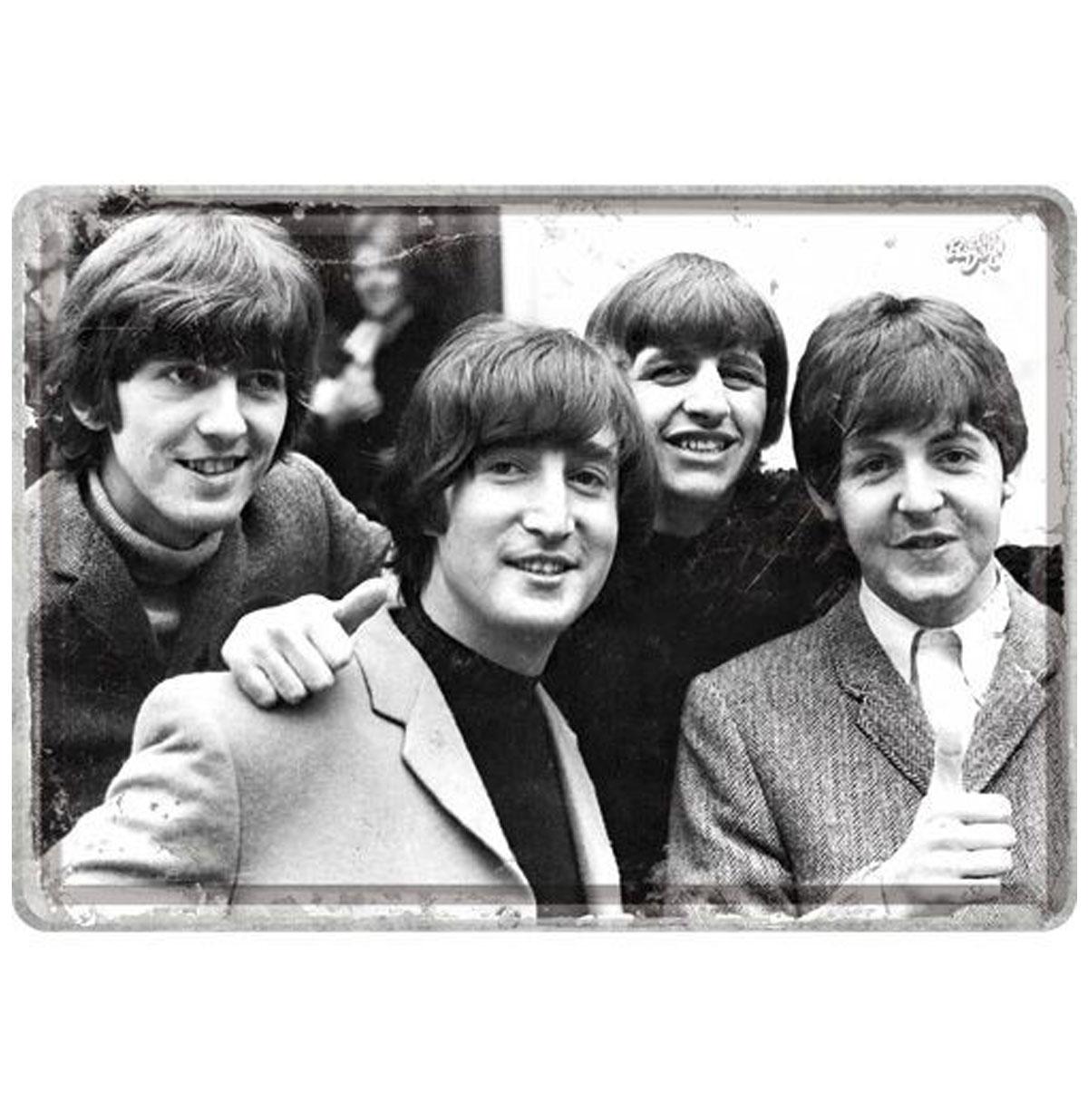 The Beatles Metalen Postkaart