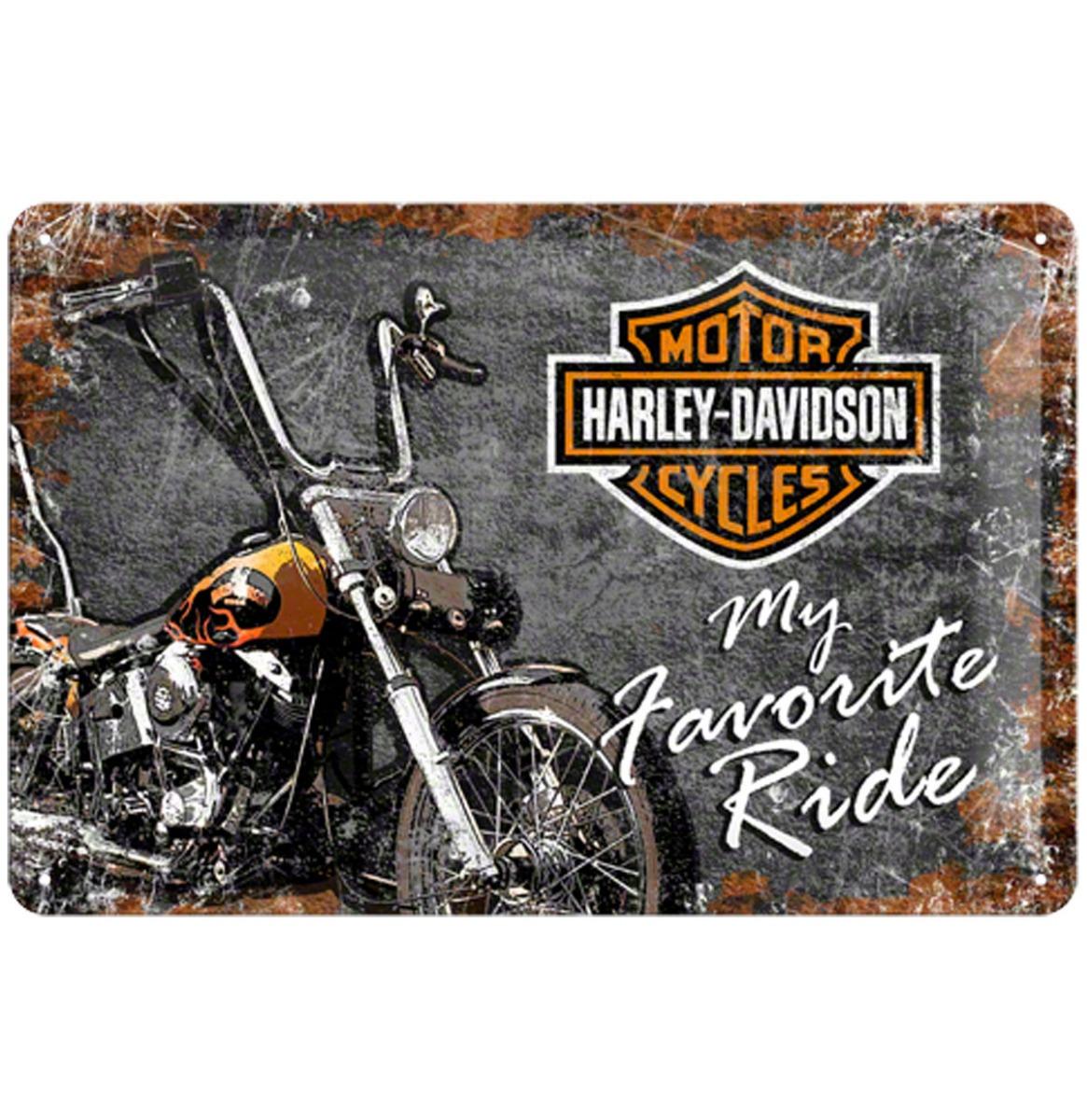 Harley-Davidson My Favorite Ride Metalen Bord 20 x 30 cm