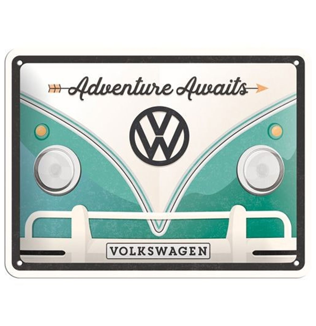 Volkswagen Adventure Awaits Metal Sign 15 x 20 cm