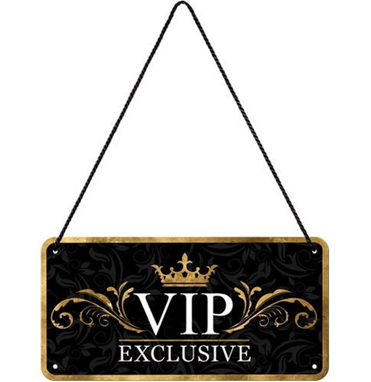 VIP Exclusive Hangend Metalen Bord 10 x 20 cm