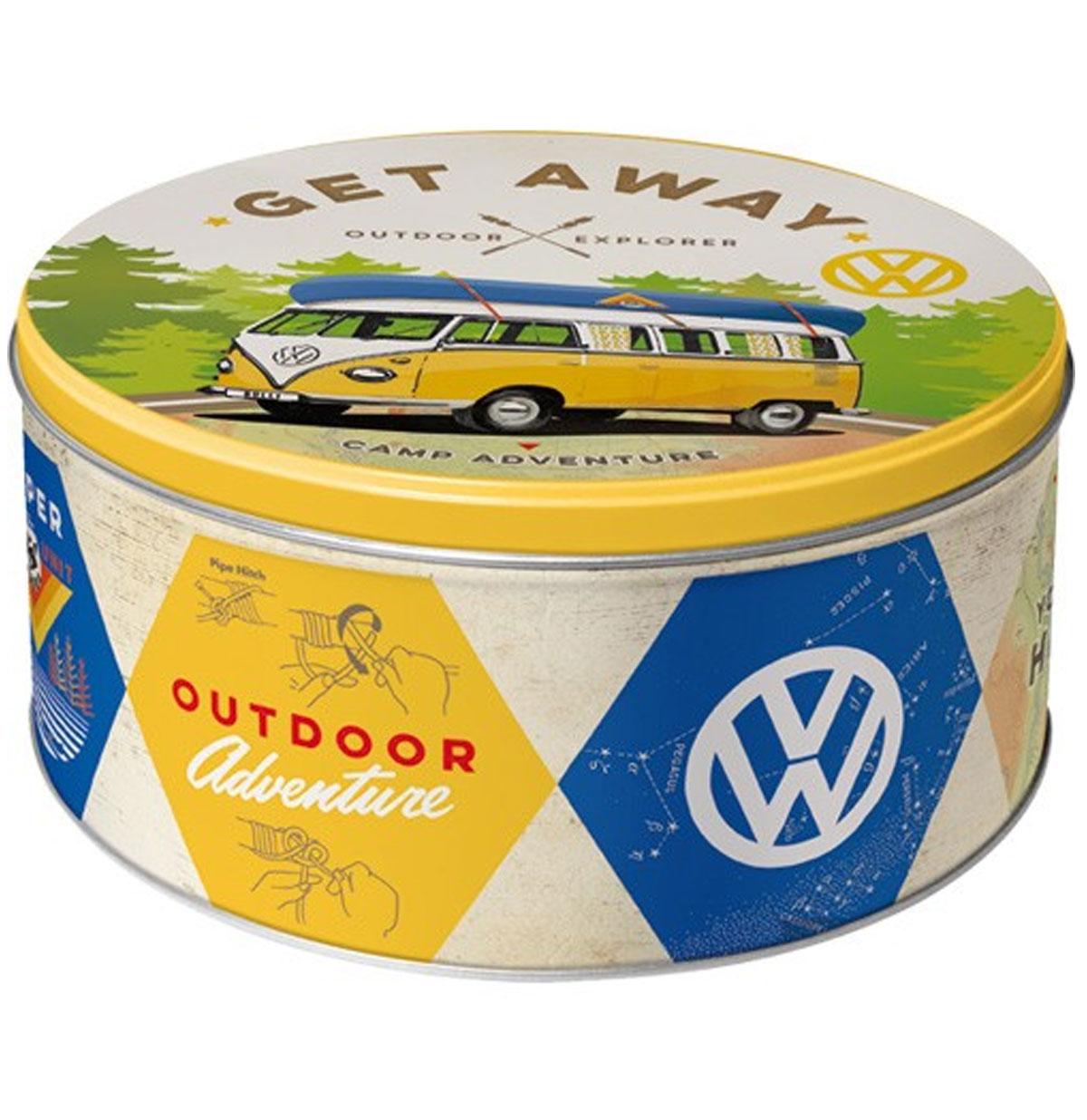 Volkswagen Get Away Outdoor Adventure Tinnen Blik Rond