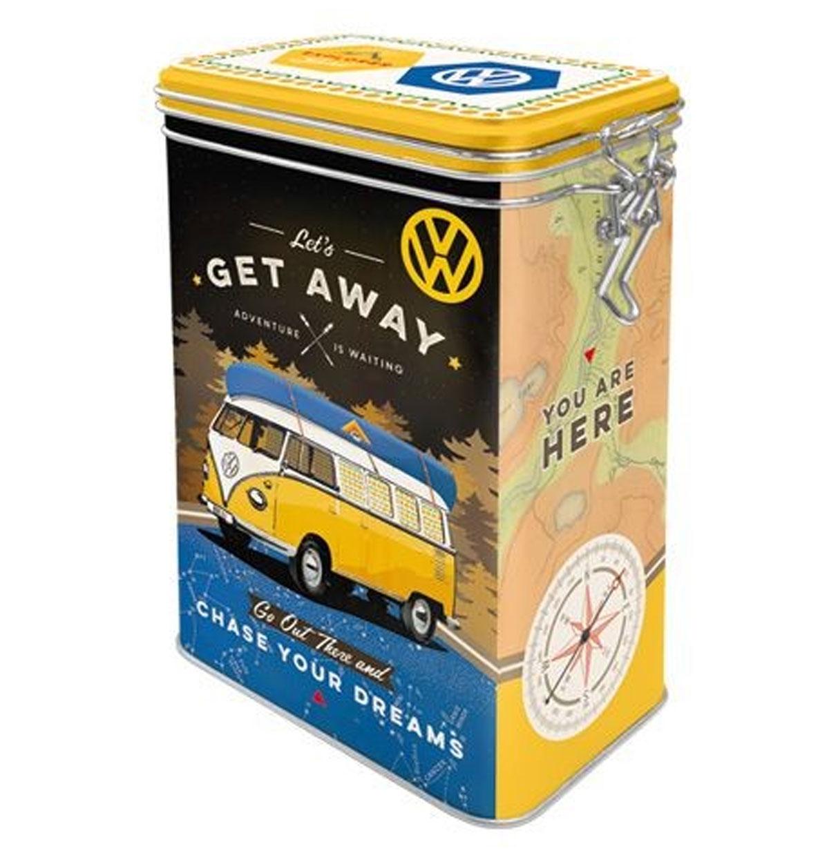 Volkswagen Let's Get Away Tinnen Blik Met Klip