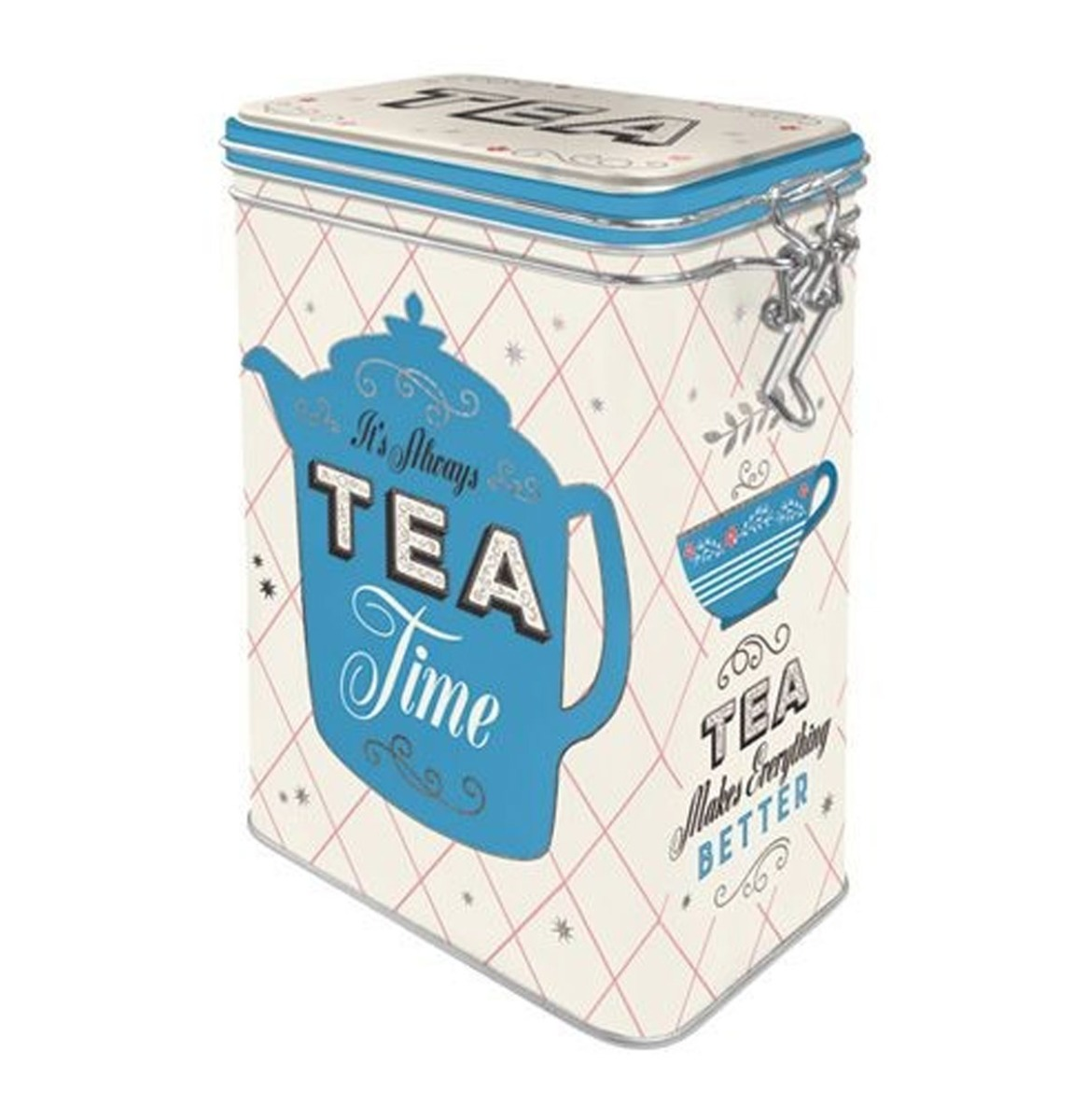 It's Always Tea Time Tinnen Blik Met Klipsluiting